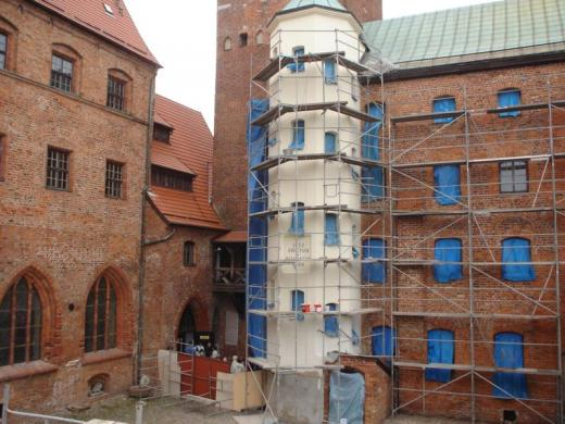 Renovation of walls – strengthening of the main hall's structure
