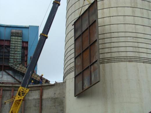 Rehabilitation of a power plant chimney conduit