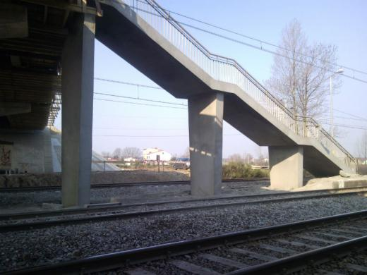 Railway and road flyover