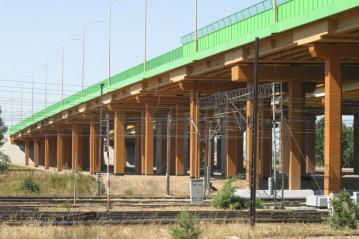 Railway and road overpass – structural strengthening of pillars and repair of load carrying structure